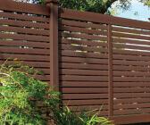 Brown Vinyl Fence