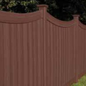 Brown Vinyl Fence Chesterfield