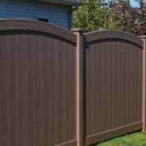 Brown Vinyl Fence Convex Chesterfield