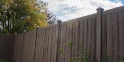 Brown Vinyl Fencing Ashland