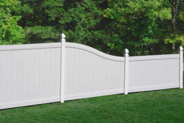S Curve Vinyl Fence White