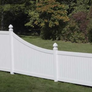 Swooped Vinyl Fence White Chesterfield