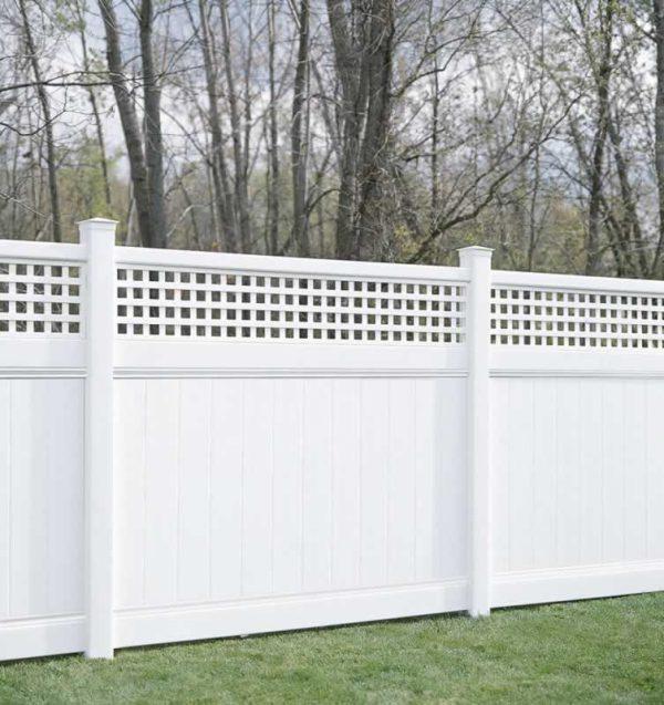 Vinyl Fence Semi Private with Lattice Topper