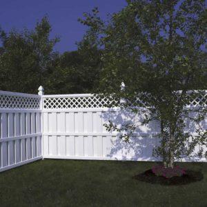 White Fence 6 foot Vinyl