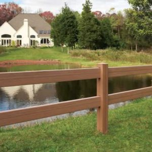 2 Rail Brown Horse Fence