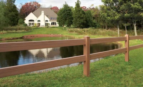 2 Rail Brown Horse Fence