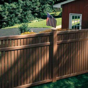 Brown Fencing for backyard Cedar Look