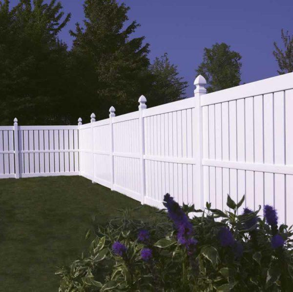 White Tall Fence Vinyl