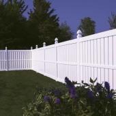 White Vinyl Fence Millbrook