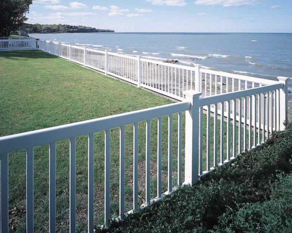 Victorian White Rail Fence