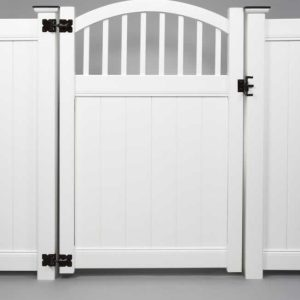 Gates White Hardware Vinyl Fencing