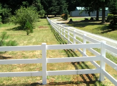 3 Rail Horse Fence - Vinyl Wholesale Horse Fencing